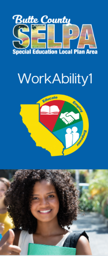 Front cover of SELPA trifold brochure about the workability program and how services are provided.