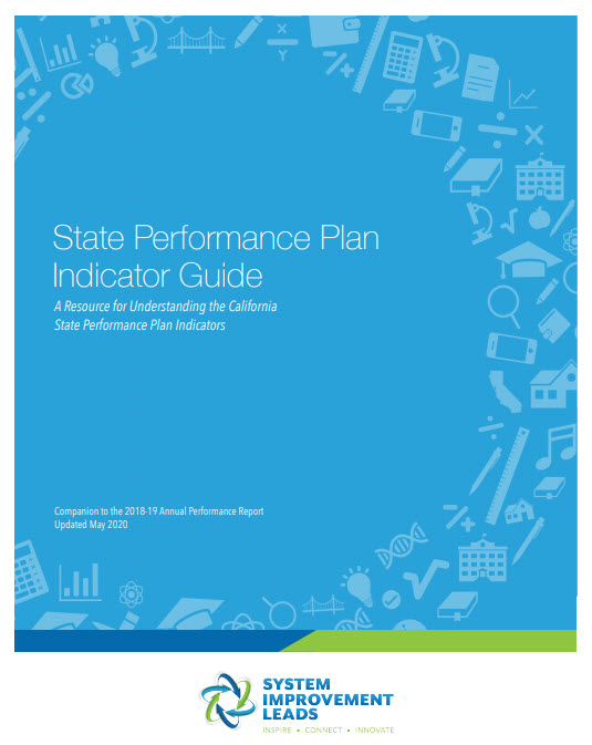 Image of the cover of the State Performance Plan Indicator Guide that links to the actual document.