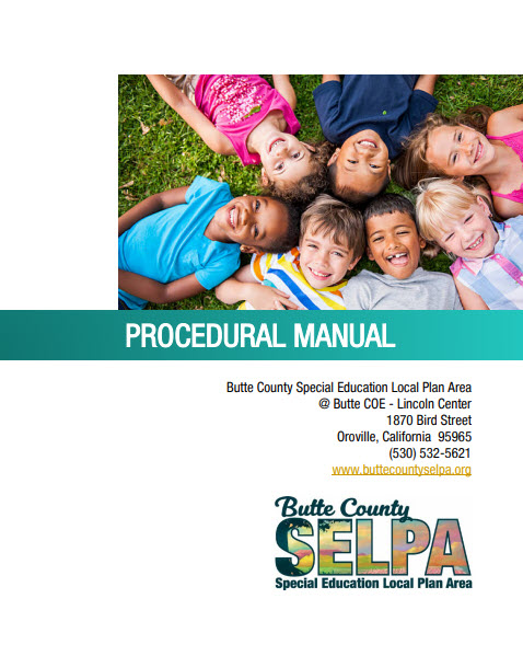 cover of the Butte County SELPA Procedural Manual that links to the document.