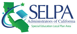 logo of the SELPA Administrators of California with the state, book, people, and star